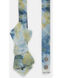 DIESEL - Cotton Denim Bow Tie - Lyst