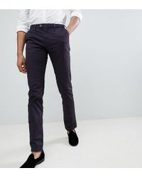Ted Baker - Tall Slim Chino In Navy - Lyst