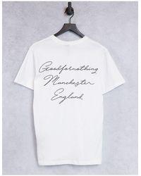 Good For Nothing T-shirt avec logo sur la poitrine et imprimé au dos - Blanc