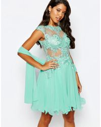 Forever Unique Lace Prom Dress - Green