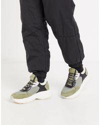 Bronx Baisley - Sneakers chunky color kaki - Multicolore