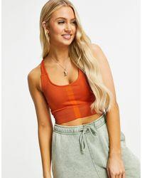 South Beach Спортивный Бесшовный Бюстгальтер Рыжего Цвета С Моделирующей Отделкой И Легкой Степенью Поддержки -коричневый Цвет - Оранжевый