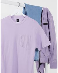 River Island Nylon Panel T-shirt - Purple