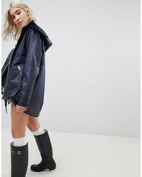 HUNTER Womens Original Raincoat - Blue