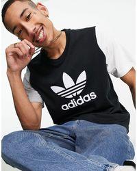 adidas Originals Color Block Trefoil T-shirt - Black