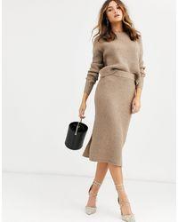 Vero Moda – Strickpullover, Kombiteil - Grau