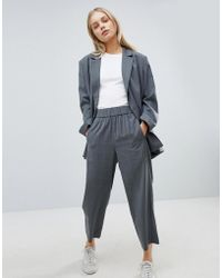 Weekday - Wide Leg Check Suit Trouser - Lyst