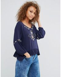 Oeuvre - Embroiderred Top - Lyst