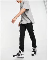 New Look Jersey Cargo sweatpants - Black