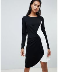 Y.A.S Асимметричное Платье Tablocka - Черный