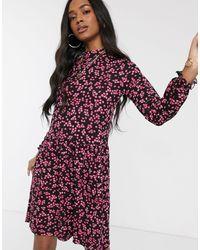 Warehouse - Розовое Ярусное Платье С Цветочным Принтом -розовый - Lyst