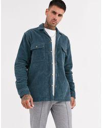 ASOS Corduroy Overhemd - Blauw