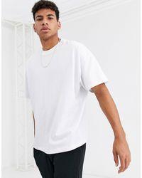 ASOS T-shirt girocollo oversize bianca - Bianco