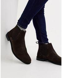 ASOS Chelsea Boots Van Suède - Bruin