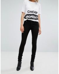 Cheap Monday - Mid Rise Skinny Jean - Lyst