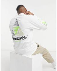 Huf Prism Sportif Back Print Long Sleeve - White