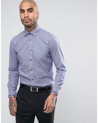 Lambretta - Smart Houndstooth Printed Slim Fit Shirt - Lyst