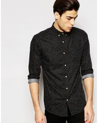 ADPT - Dpt Shirt With All Over Print In Regular Fit - Lyst