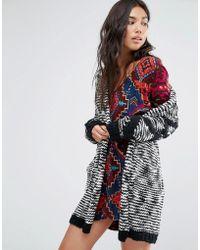 Billabong - Shawl Cardigan In Chunky Knit - Lyst
