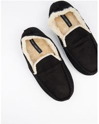 French Connection Mocassin Slippers - Black