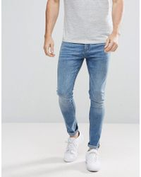Stradivarius - Super Skinny Jeans In Mid Wash - Lyst