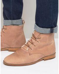 Bobbies - L'explorateur Faux Shearling Lace Up Boots - Lyst