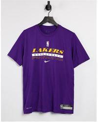 Nike Basketball Los Angeles Lakers Dri-fit Practice T-shirt - Purple