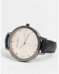 Brave Soul Faux Leather Watch - Black