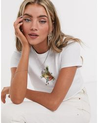 TOPSHOP 'love Hurts' Cropped T-shirt - White