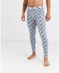ASOS Lounge Pyjama megging With All Over Slogan Print - Blue