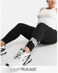 PUMA Plus - essentials - legging à grand logo - Noir