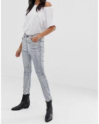 One Teaspoon Kidds - Jeans skinny metallizzati - Grigio