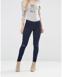 ONLY Royal Knee Cut Jeans - Blue