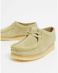 Clarks Wallabee - Chaussures plates en daim - Erable - Neutre