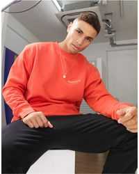 Mennace Sweatshirt With Happiness Logo - Orange