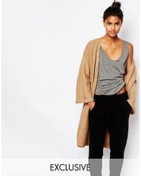 Micha Lounge Kimono Sleeve Ribbed Cardigan - Black