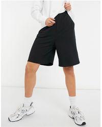 ASOS Longer Length Sweat Shorts - Black