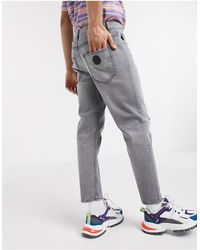 Love Moschino Distressed Slim Jeans - Grey