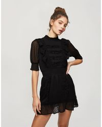 Miss Selfridge Vestito corto nero con dettaglio