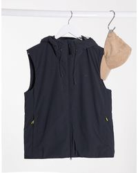 Lacoste Hooded Gilet Jacket - Black