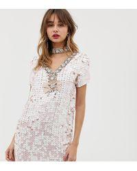 River Island Розовое Платье А-силуэта С Отделкой Пайетками - Многоцветный