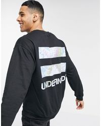 River Island Sweat With Undefined Print - Black