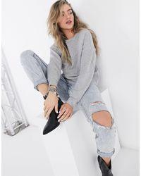 Vila Panelled Sweatshirt - Grey