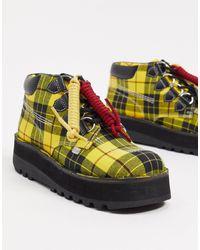 Kickers Ботинки На Платформе В Желтую Клетку Kick Hi Creepy-многоцветный - Желтый