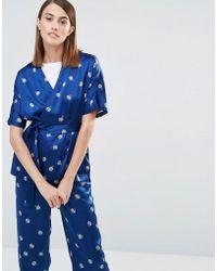 Whistles - Edwina Pyjama Pants In Floral Print Silk - Lyst