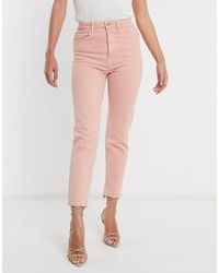 Stradivarius Slim Mom Jean With Stretch - Pink