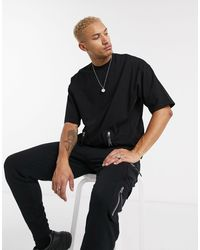 ASOS Camiseta extragrande parte - Negro