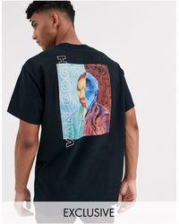 Reclaimed (vintage) Van Gogh – T-Shirt - Schwarz