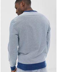 J.Crew Mercantile J Crew Feeder Stripe Crew Neck Sweatshirt - Blue