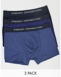 French Connection 3 Pack Trunks - Black